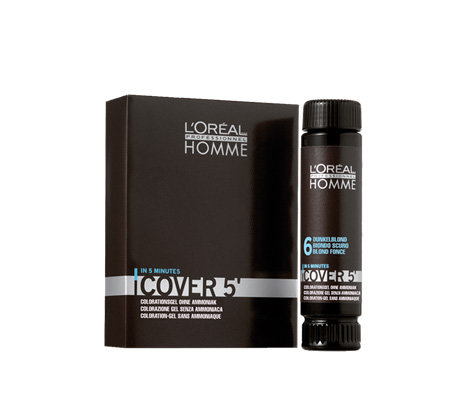 Loreal Professionnel Homme Cover 5 Grauhaarkaschierung 3 x 50 ml 6 Dunkelblond